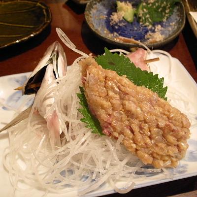 アジのなめろう蒲田で食べた