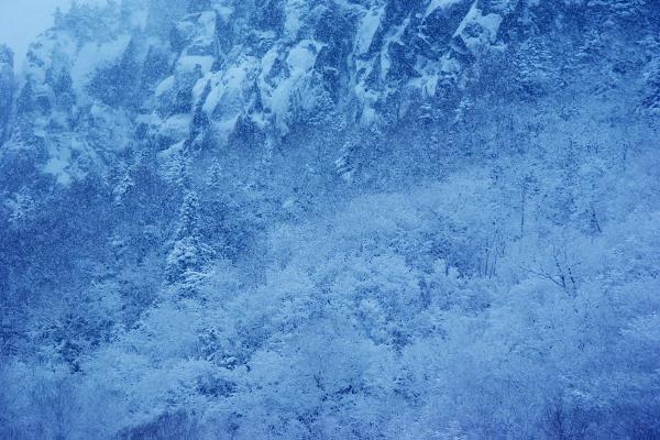 画像 層雲峡の雪景色